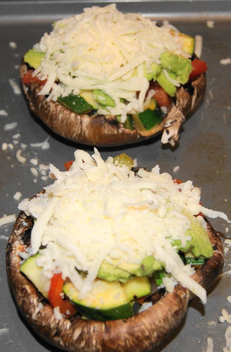 Portabella topped with cheese