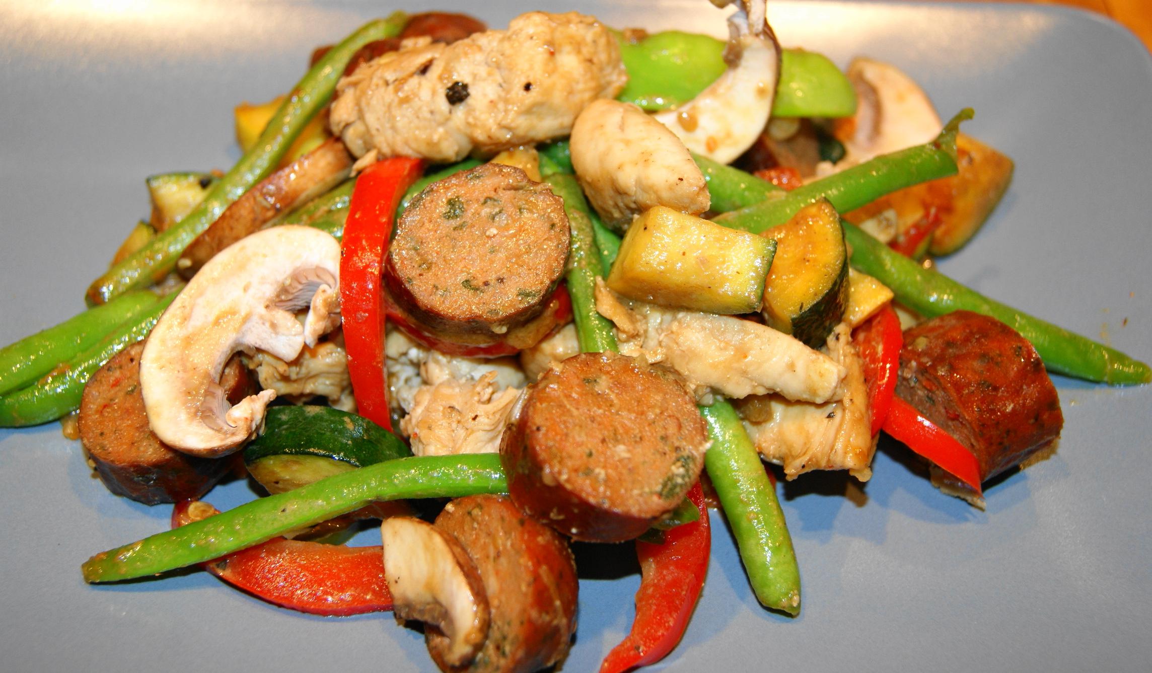 Chicken Stir Fry with Tahini Sauce